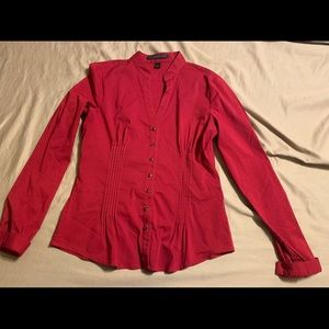 Red express button down